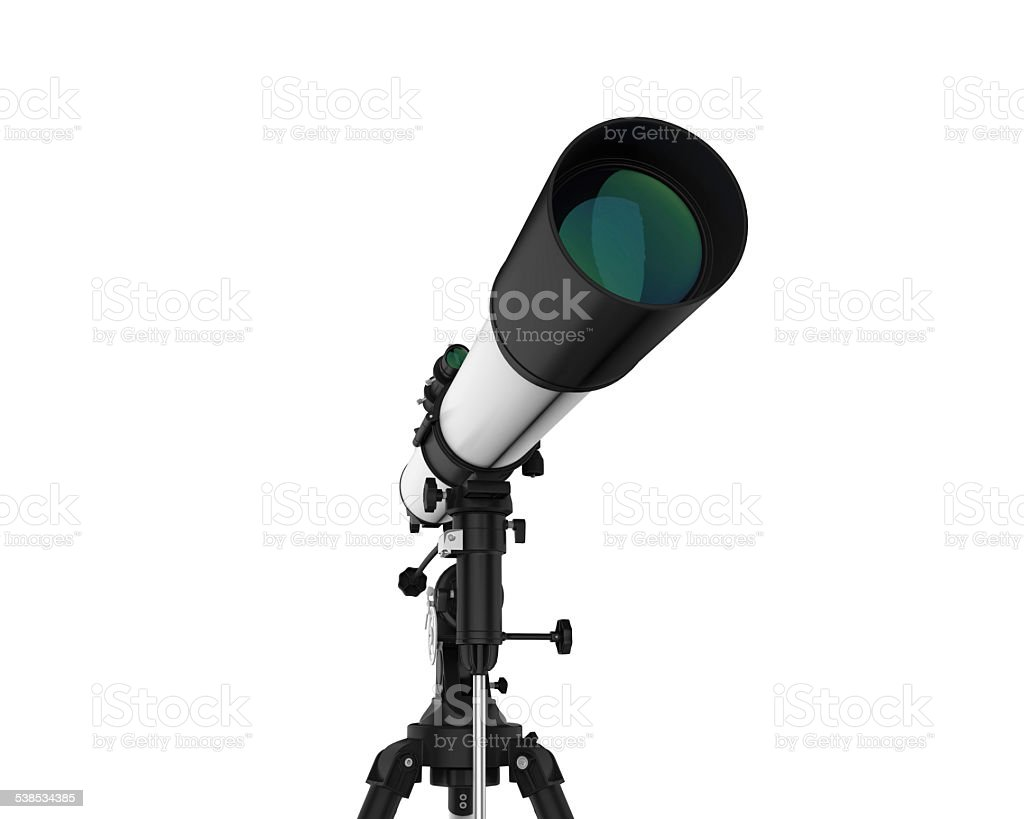 Telescope Isolated vector art illustration