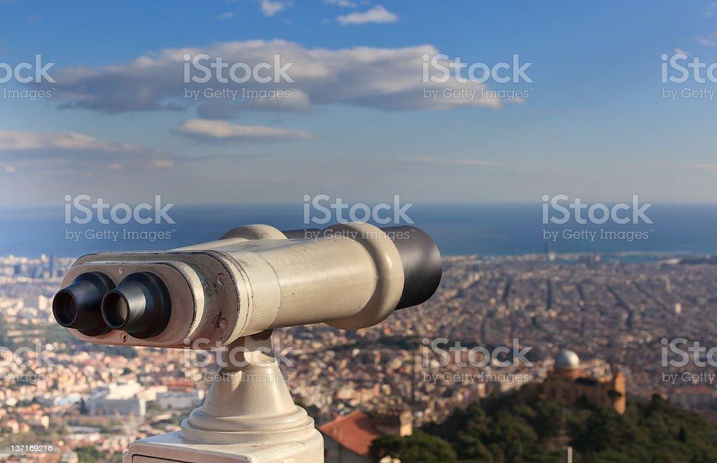 Telescope look at the city royalty-free stock photo