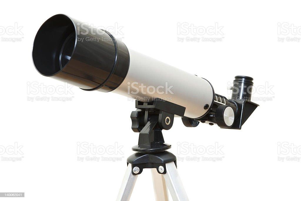 Telescope on white stock photo