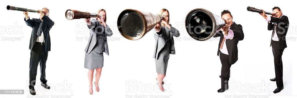 Telescope people royalty-free stock photo