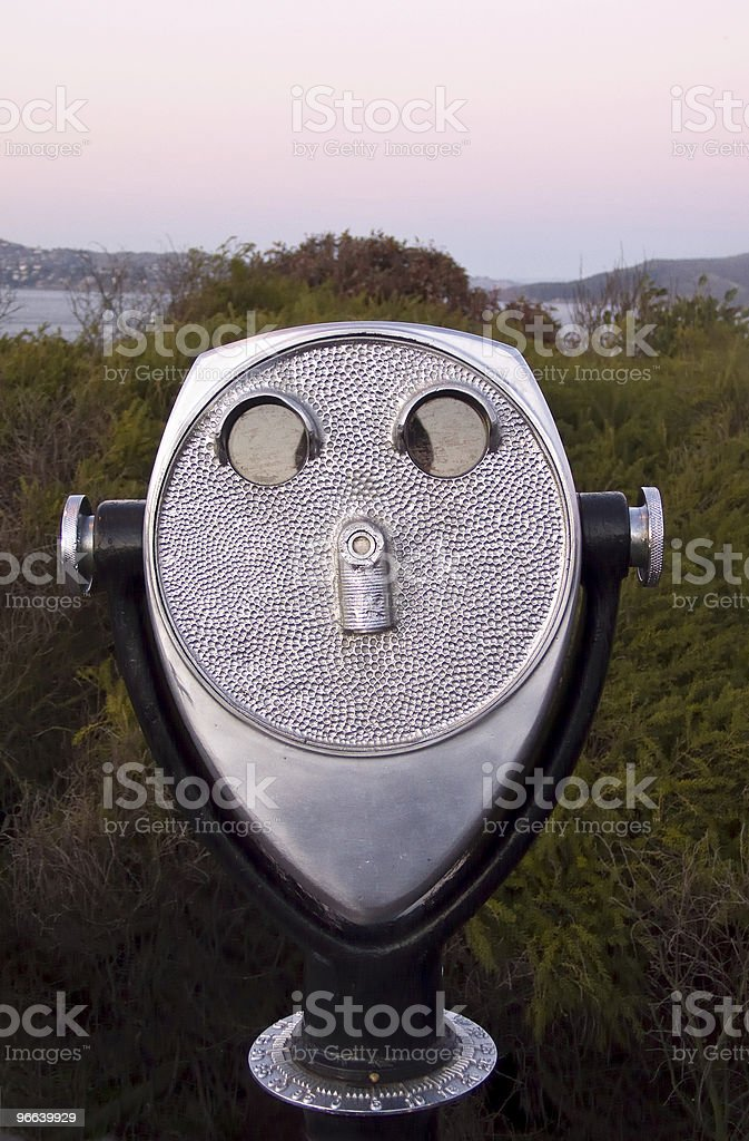 Telescope With Face royalty-free stock photo