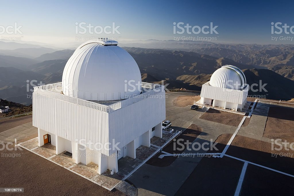 Telescopes in Chile stock photo