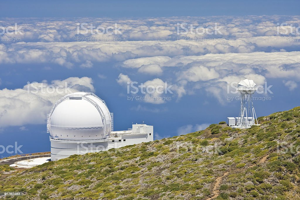 Telescopes stock photo