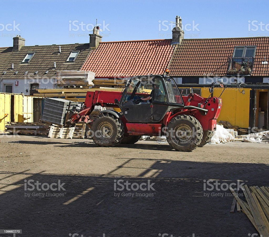 Telescopic Forklift Machine 2 royalty-free stock photo