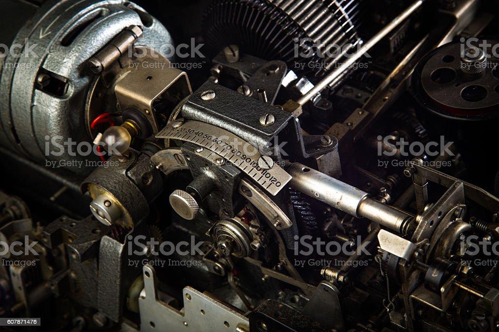 Teletype Typewriter Close Up stock photo