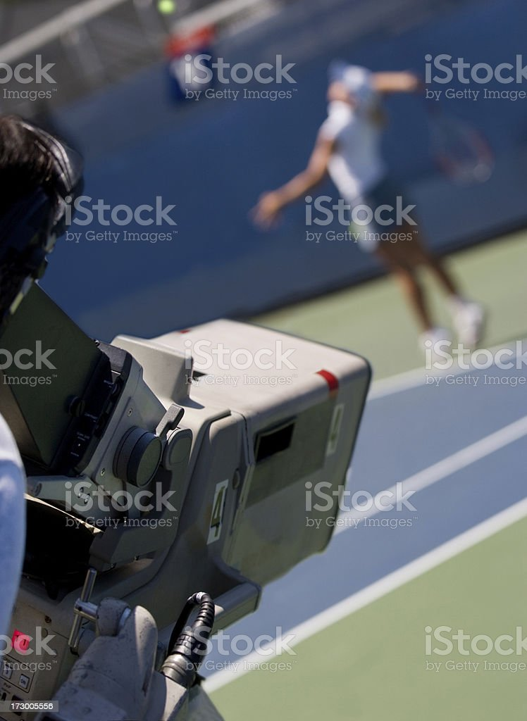 Televised sporting event royalty-free stock photo