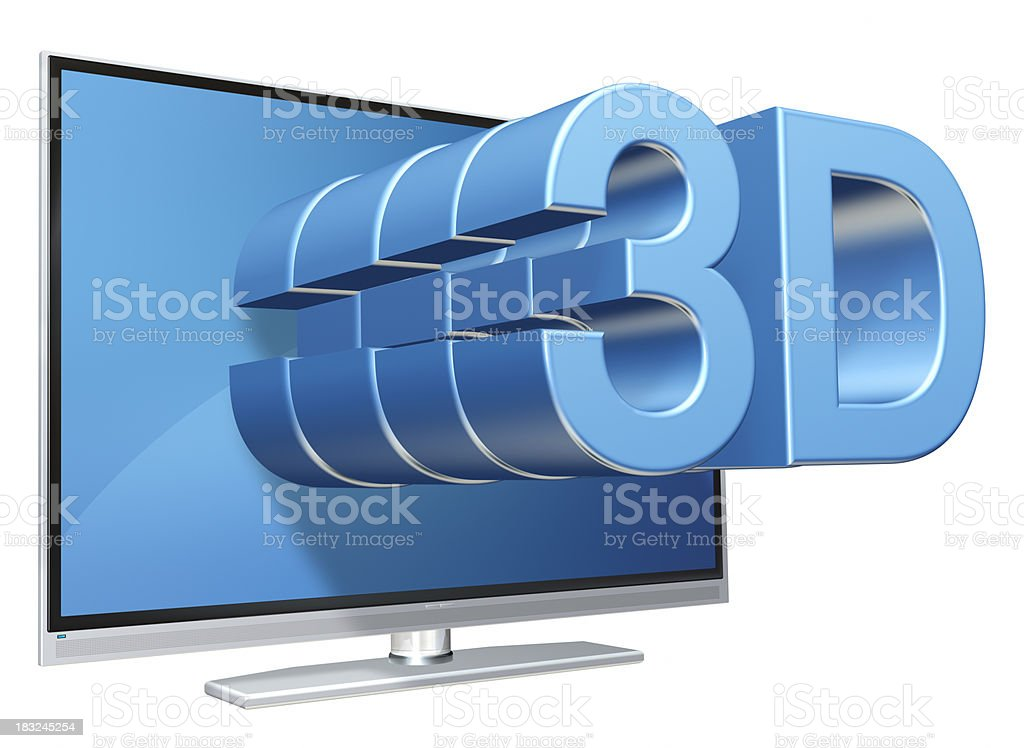 Television 3d royalty-free stock photo