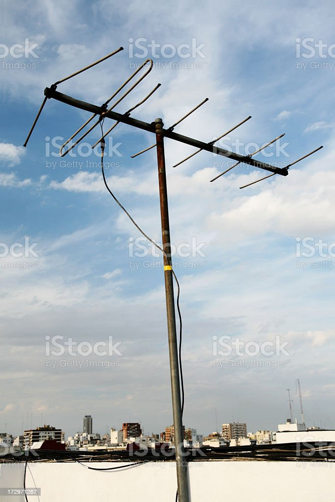Television antenna royalty-free stock photo