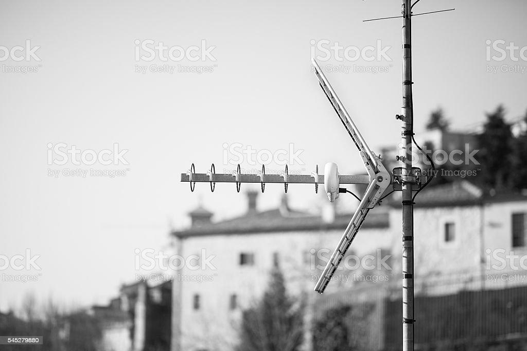 Television antenna. stock photo