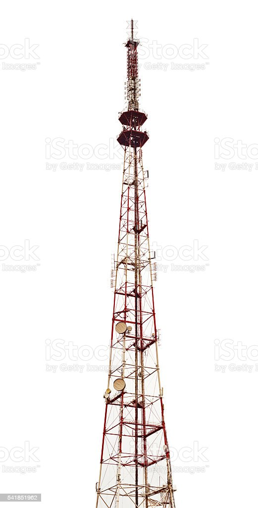 Television broadcasting station isolated stock photo