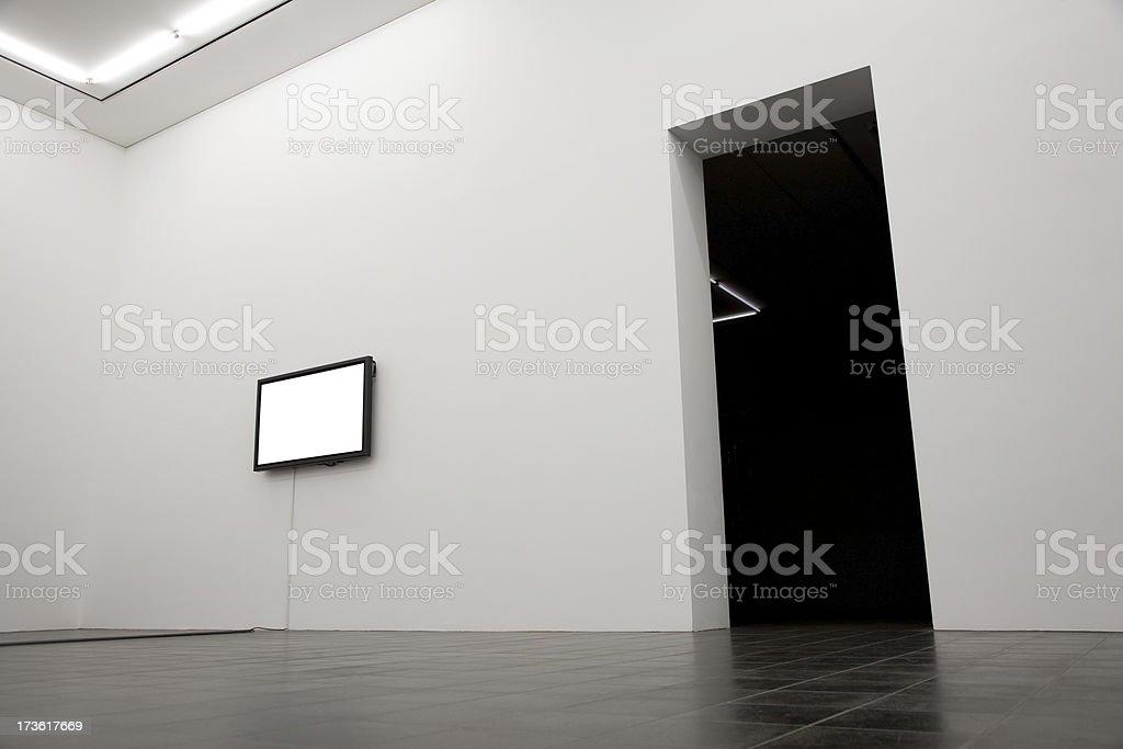 television bw stock photo