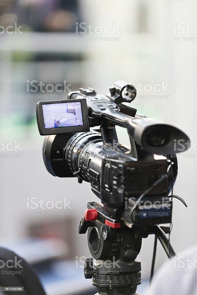 Television camera recording royalty-free stock photo