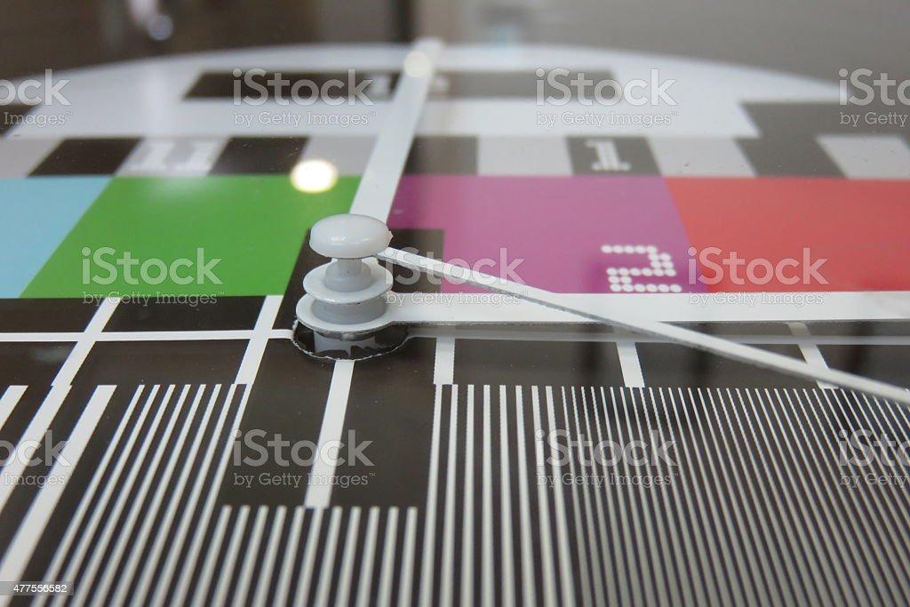 television Clock stock photo