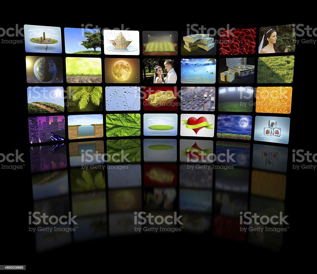 Television concept stock photo