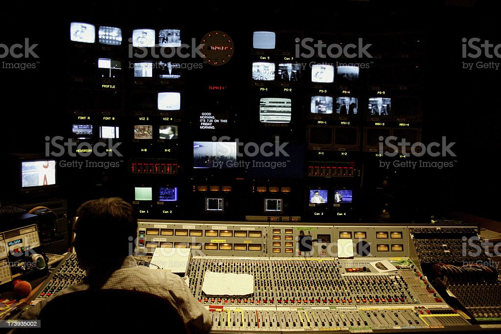 Television Control Room royalty-free stock photo