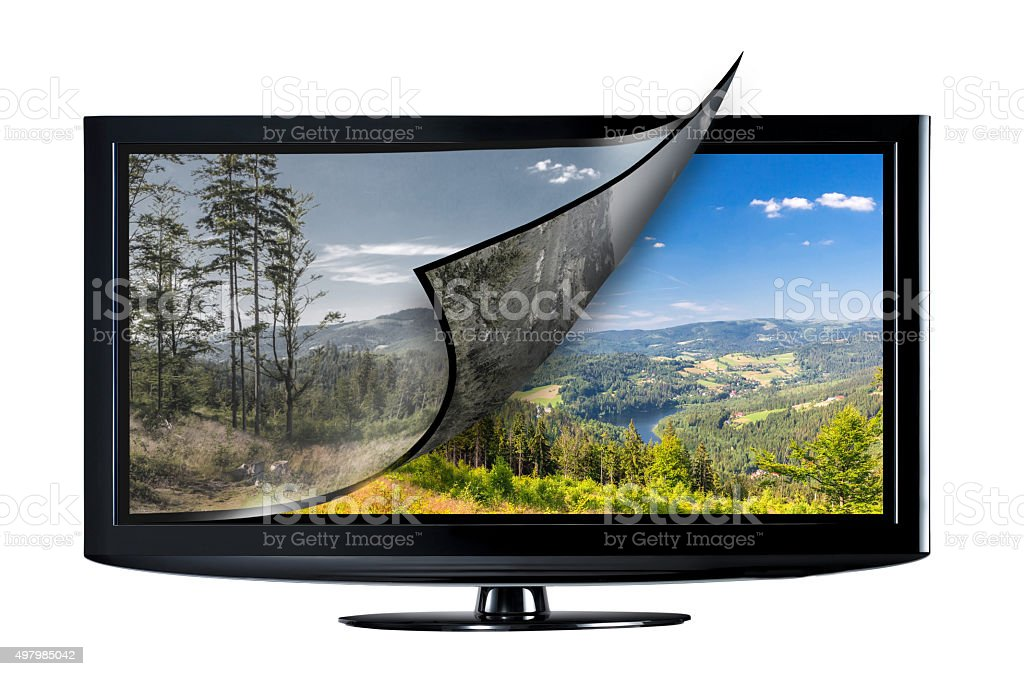 Television display concept. stock photo