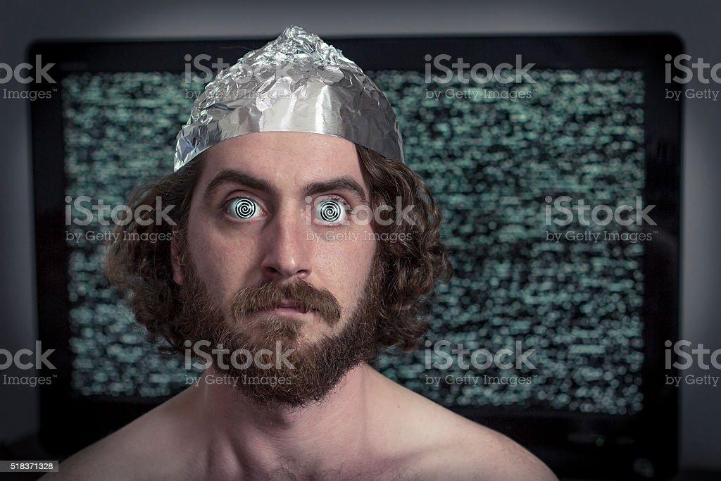 Television Hypnotized stock photo