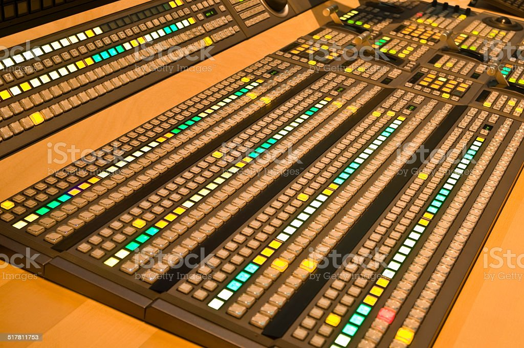Television mixer in a TV Studio stock photo