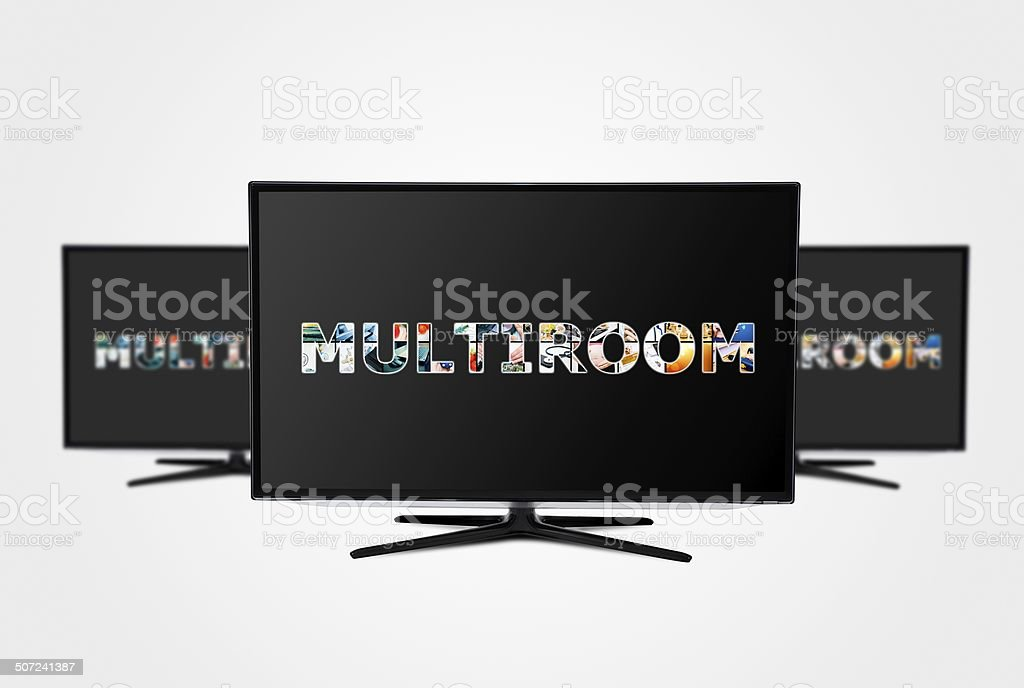 Television multi-room technology. stock photo