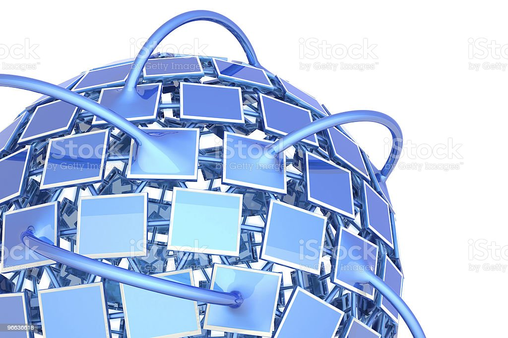 Television network royalty-free stock photo