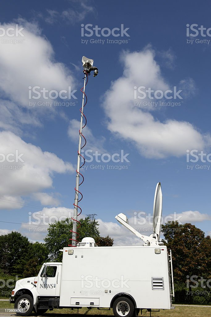 Television News Truck stock photo