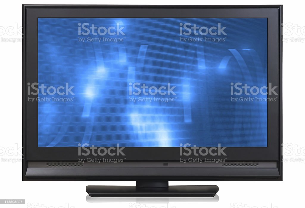 HD LCD television royalty-free stock photo
