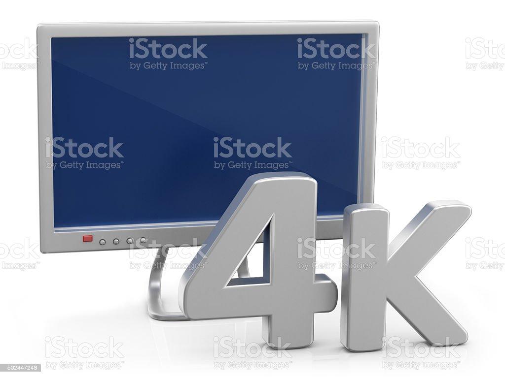 4K Television stock photo