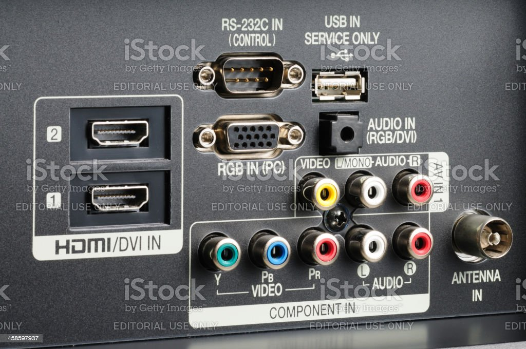 Television ports stock photo