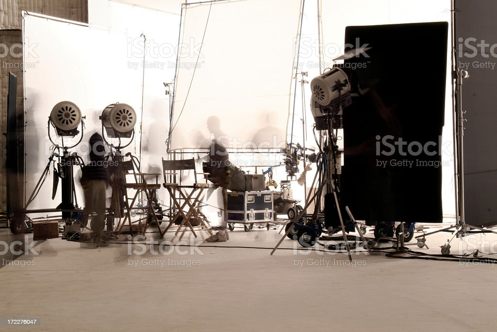 television production with long exposure. stock photo