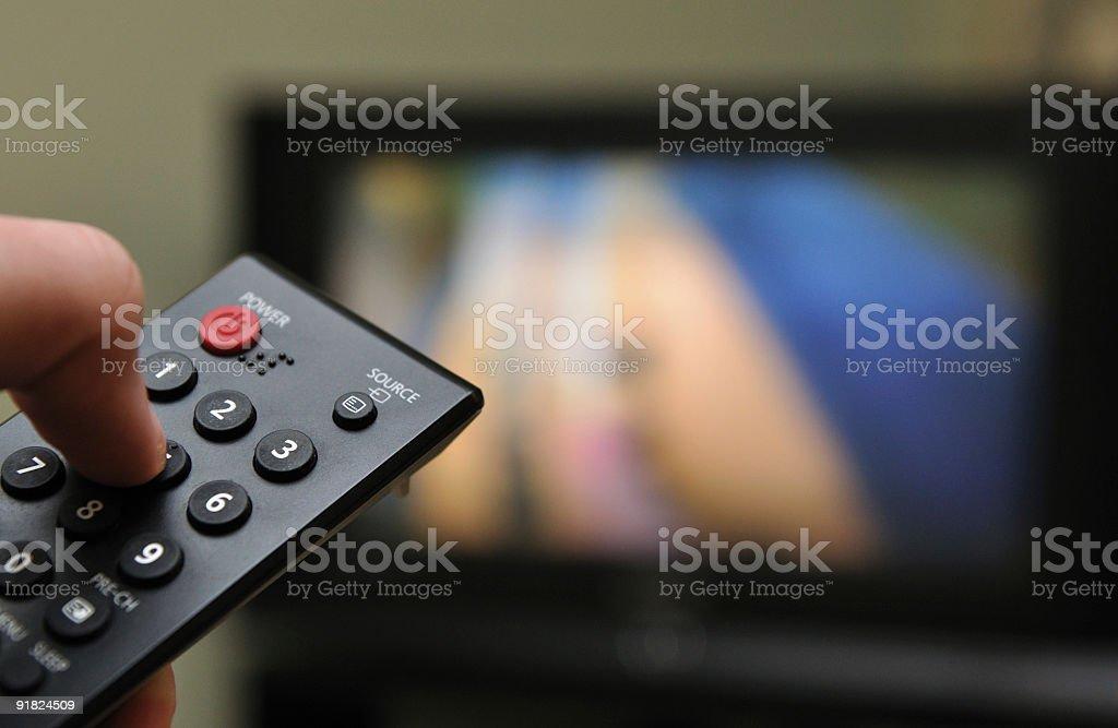 Television remote control stock photo