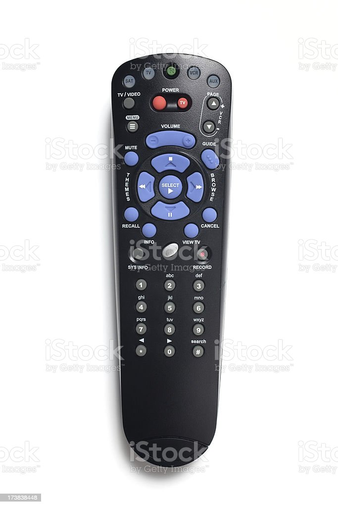 Television remote controller stock photo