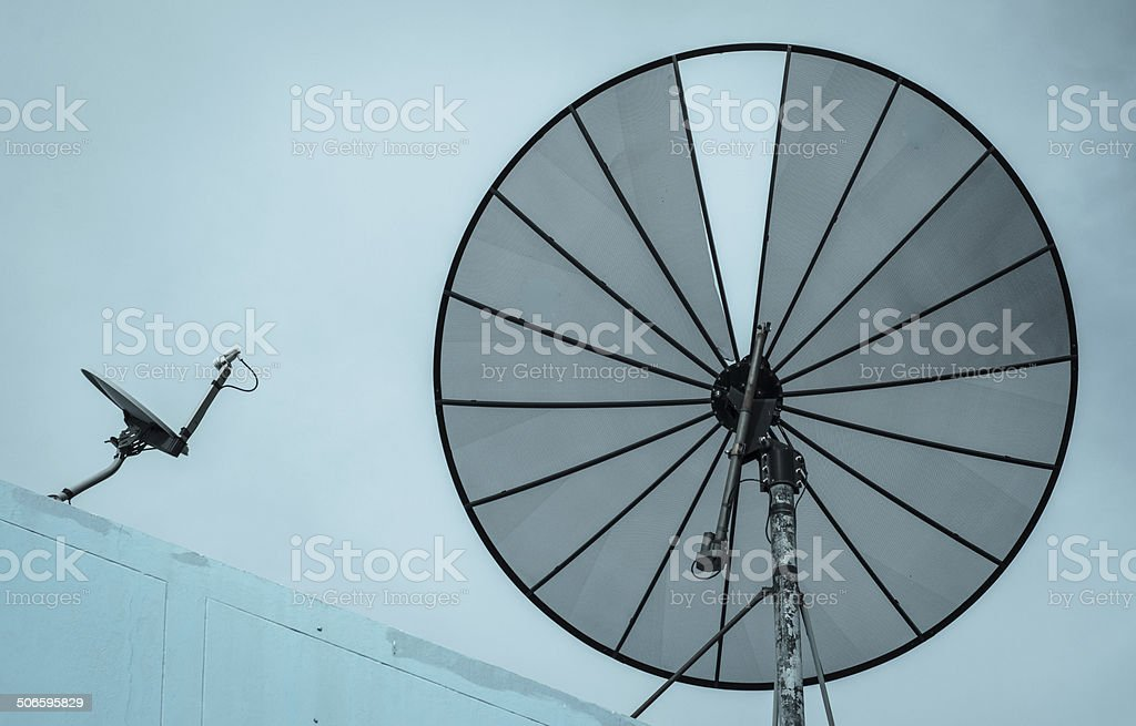 television Satellite stock photo
