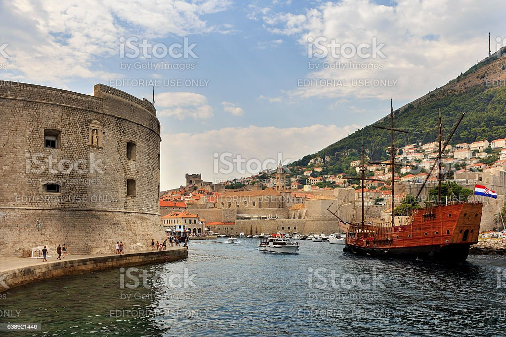 HBO television show Game of Thrones tourist sailing ship stock photo