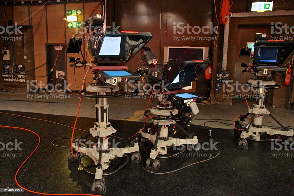 Television Studio Behind the Scenes stock photo
