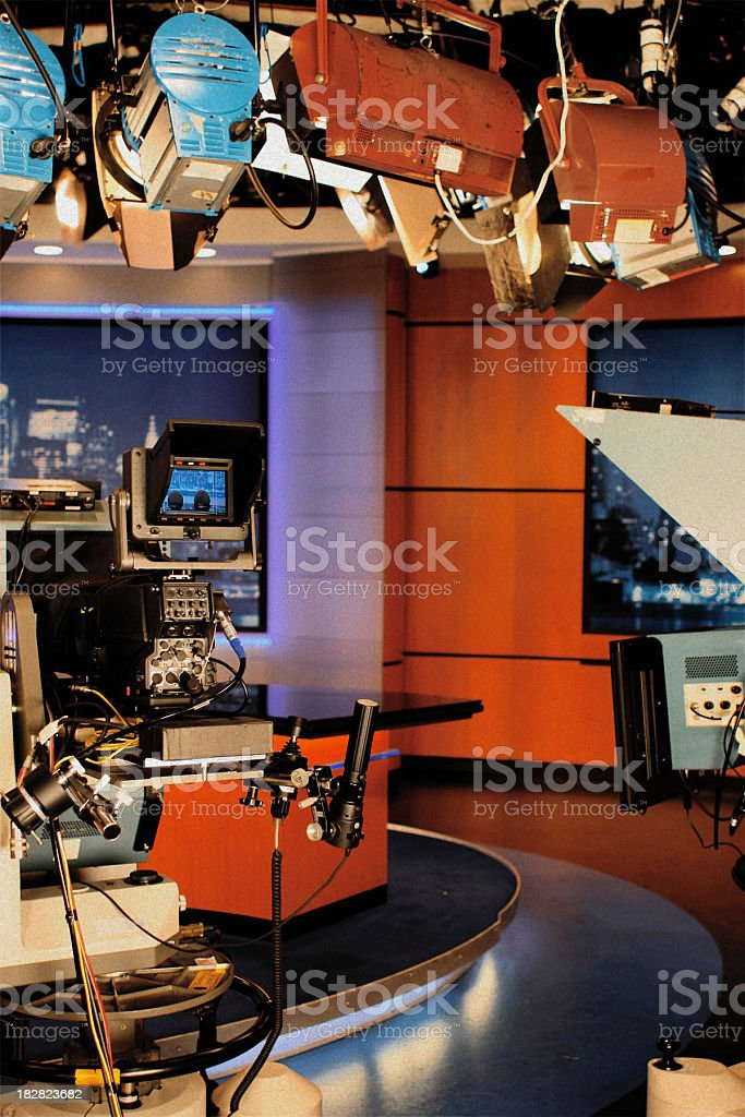 Television Studio - News Set stock photo