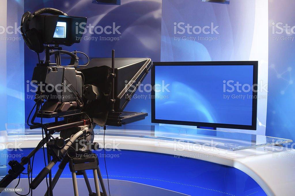 Television Studio stock photo