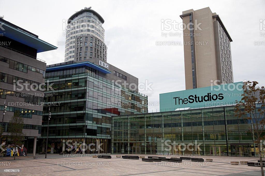 BBC television studios, MediaCityUK royalty-free stock photo