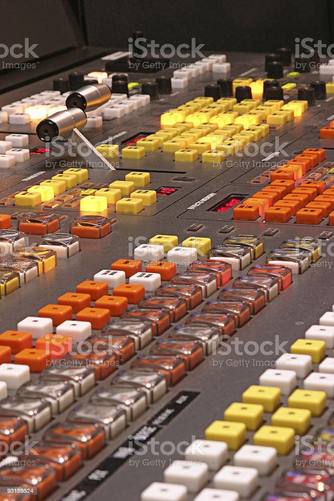 Television switcher royalty-free stock photo