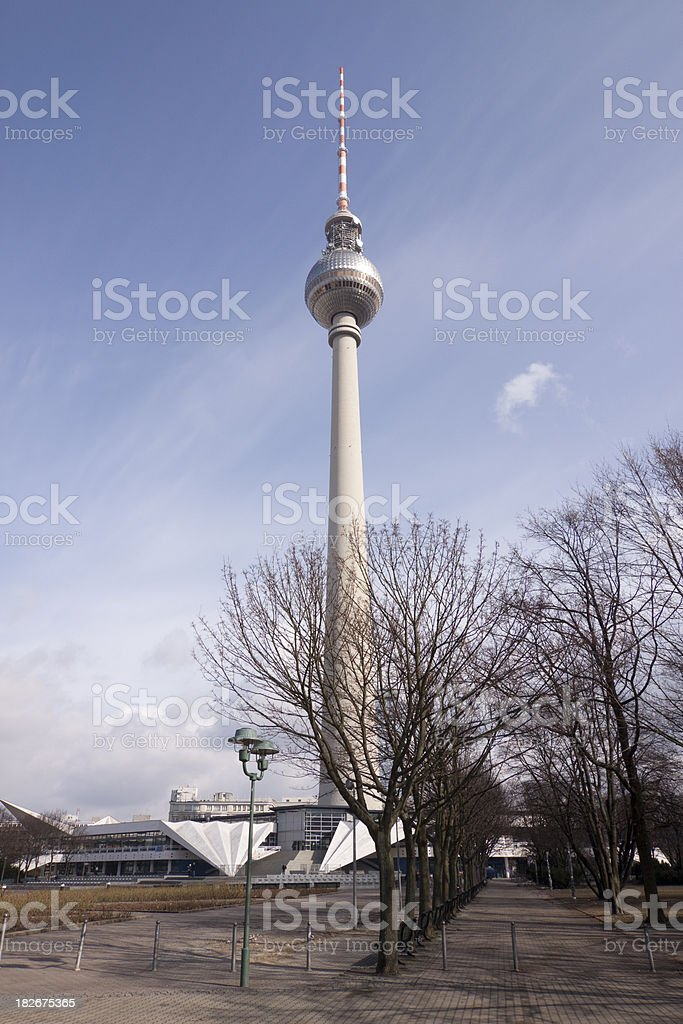 Television Tower Berlin royalty-free stock photo
