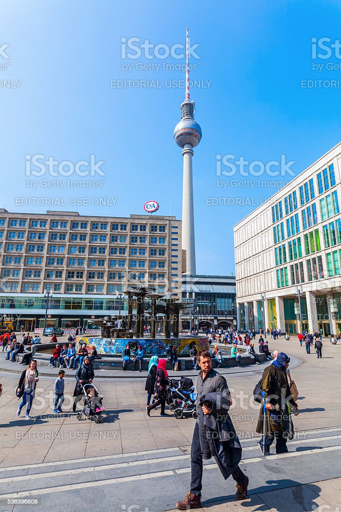 Television Tower in Berlin, Germany stock photo