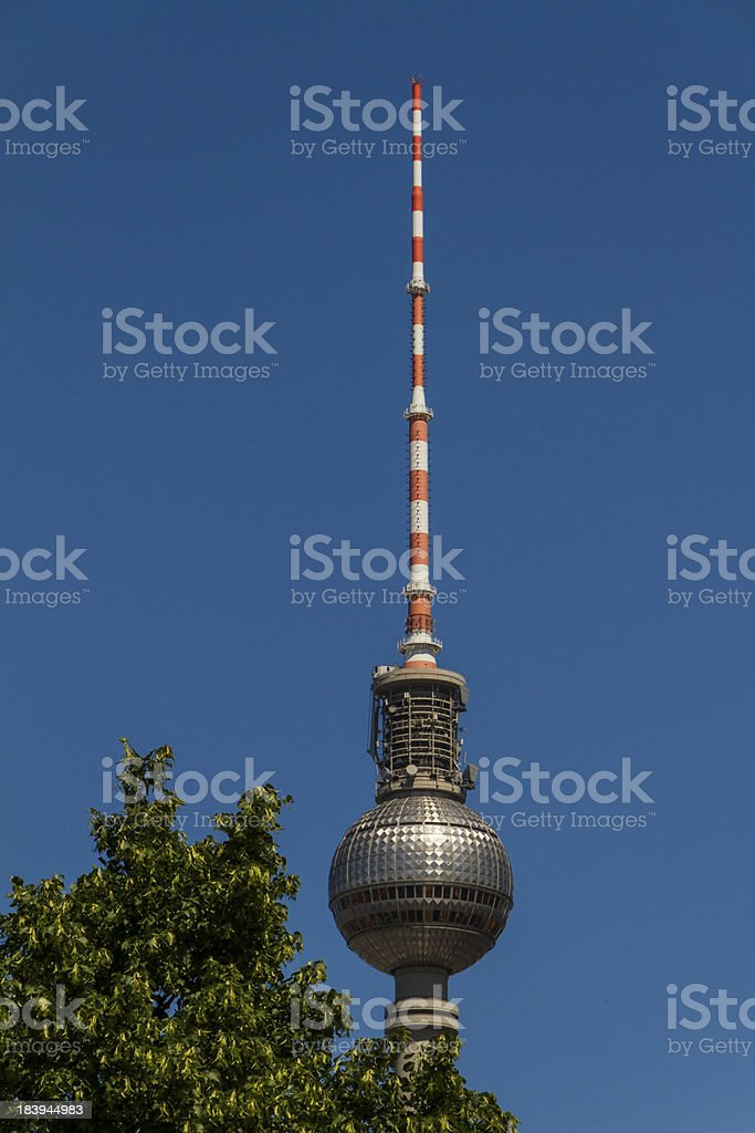 television tower in berlin mitte royalty-free stock photo