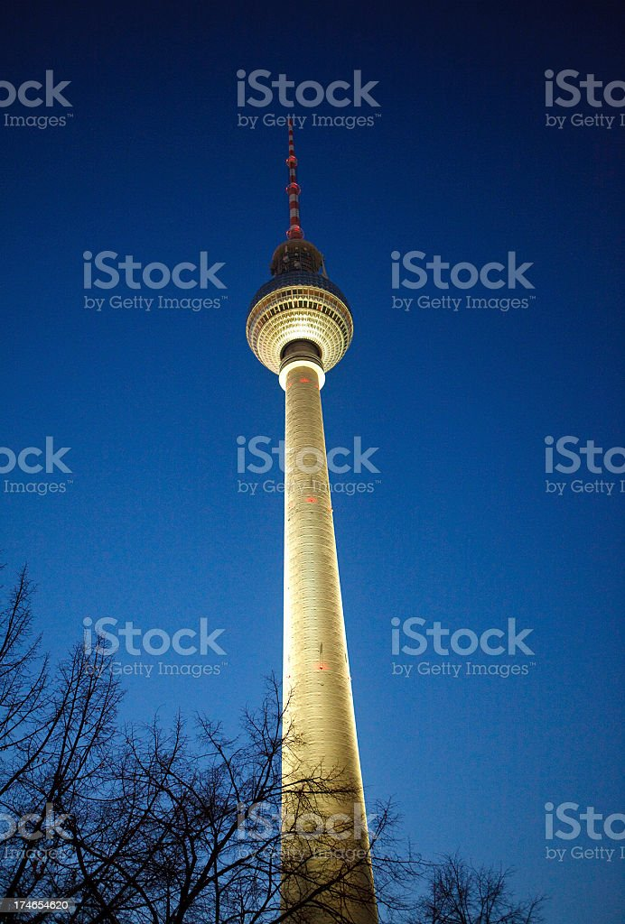 Television Tower in berlin stock photo