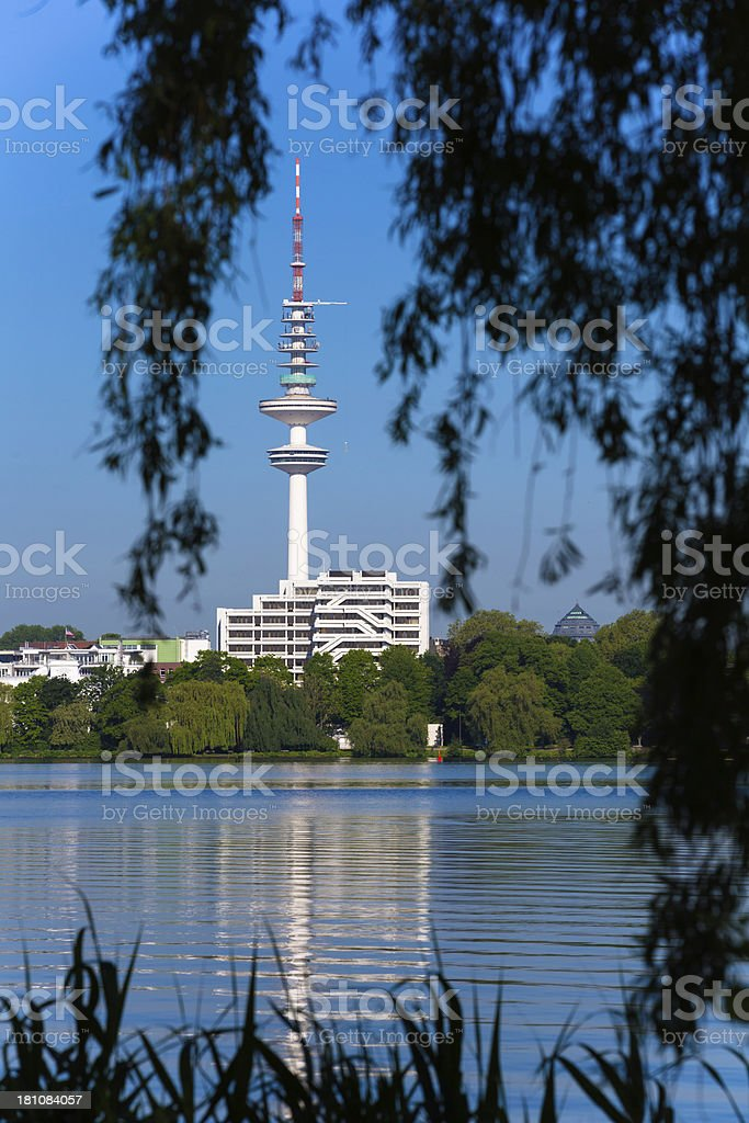 Television tower in Hamburg stock photo