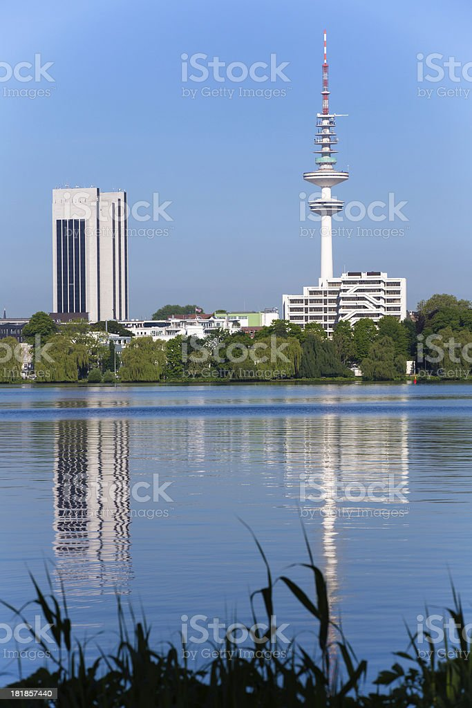 Television tower in Hamburg stock photo