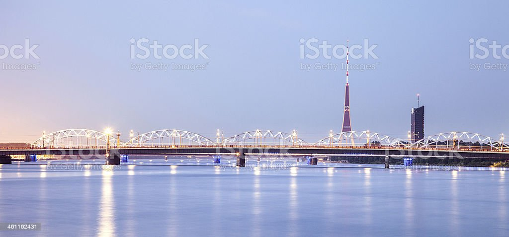 Television Tower in Riga royalty-free stock photo