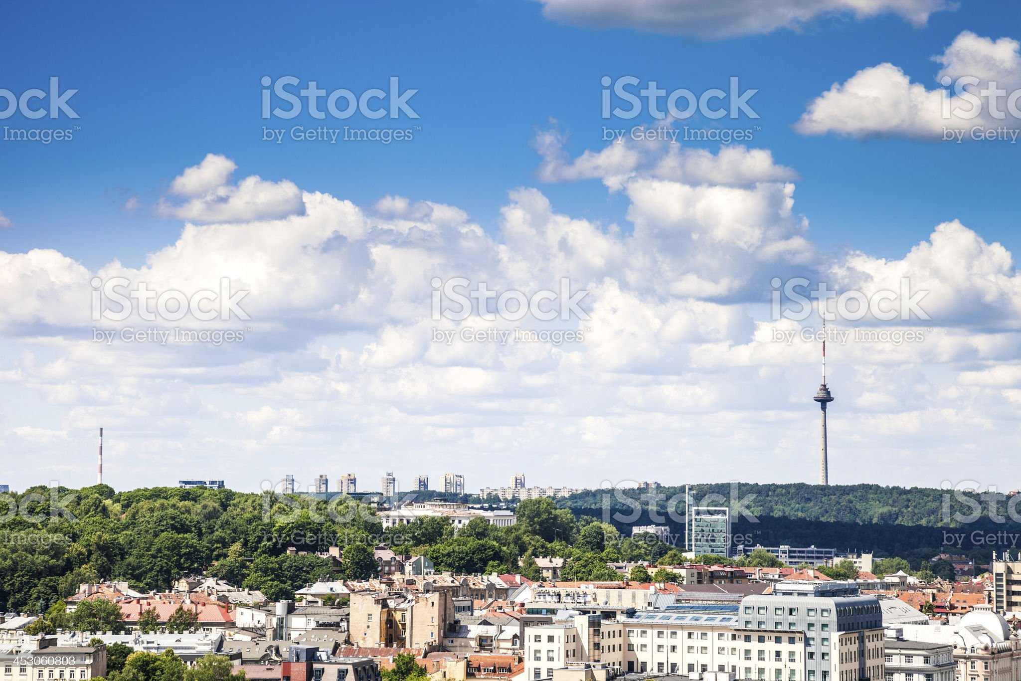 Television Tower in Vilnius royalty-free stock photo