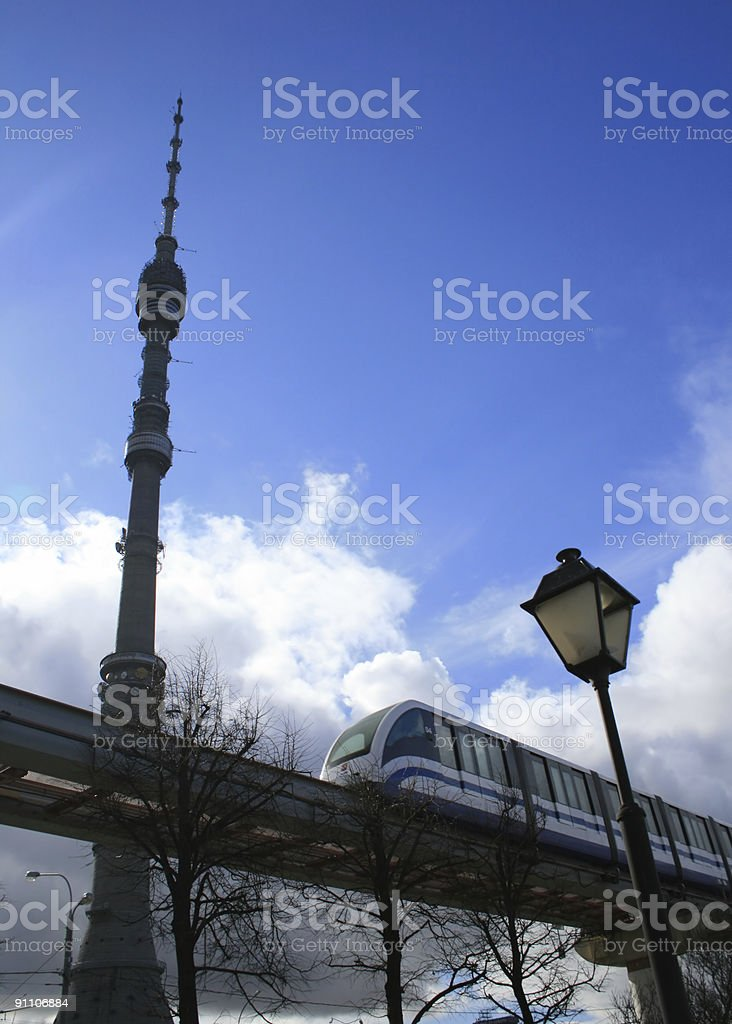 Television tower royalty-free stock photo