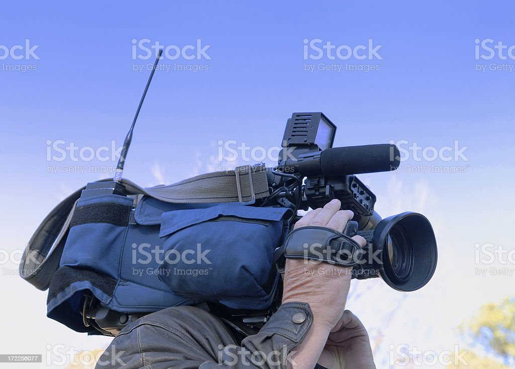 Television Videographer royalty-free stock photo