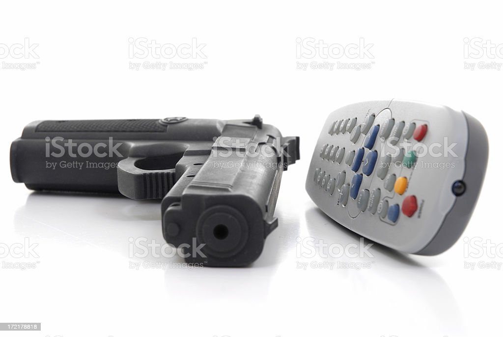 Television violence royalty-free stock photo