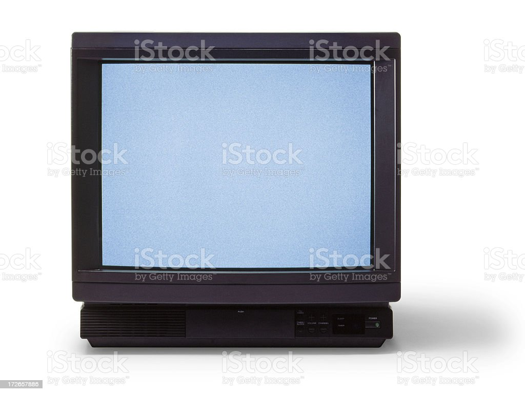 Television with Snow stock photo